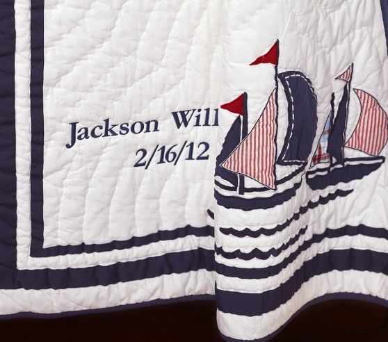 Harper Boats Nursery Bedding | Pottery Barn Kids