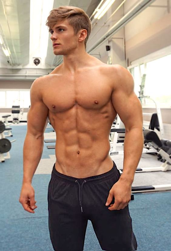 Blonde Guy With Abs