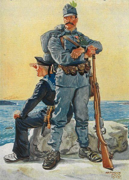 """Alexander POCK: """"Adria Wacht"""" Ausgeführt für das k.u.k. Kriegshafenkommando in Castelnuovo (Bocche di Cattaro) im Auftrag der Firma Gebrüder Mardessich."""