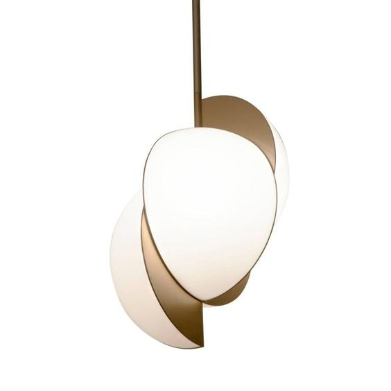 Lara Bohinc, Collision Ceiling Light, Gold Galvanic with White Acrylic 2