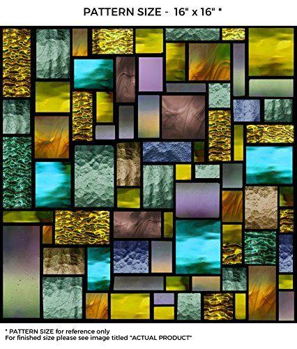 Windowpix 18 X 12 Solar Geometric Pattern Window Film