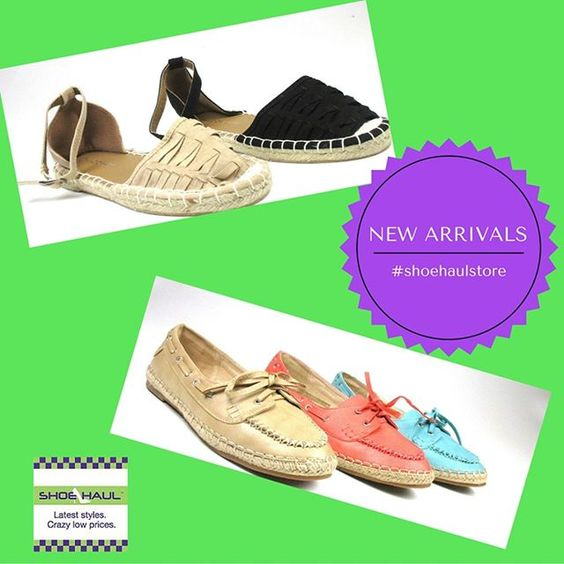 Over 50,000 pairs of shoes in stock at crazy low prices - every day! Two of our newest flats for summer. Slip in loafer or ankle-laced closed to shoe. Open tonight until 9:30. 1334 N Military Trail, WPB #westpalmbeach#soflorida#thepalmbeaches