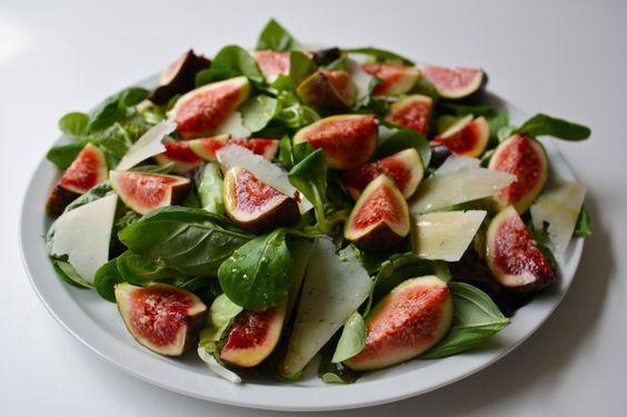 fig, basil, honey salad