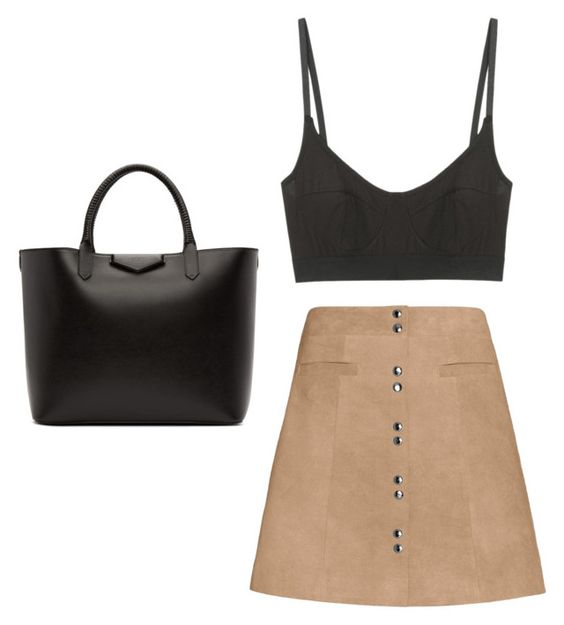 """simple"" by zoebrettle ❤ liked on Polyvore featuring Base Range, Exclusive for Intermix and Givenchy"