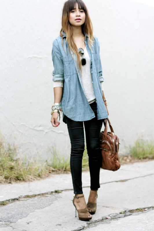 23 best My style-Denim shirt images on Pinterest | Denim shirts ...
