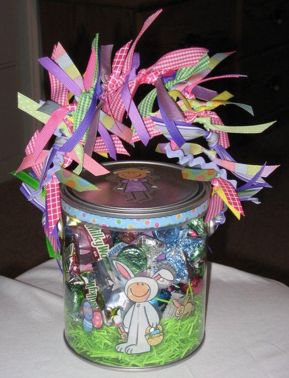 Love Clear Paint Bucket Ideas Easter Spring Fun