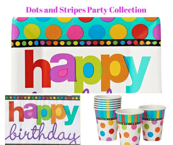 Dots and Stripes Party Banner