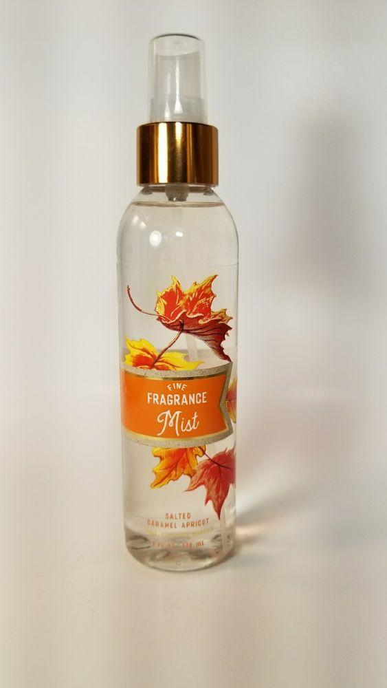 2 Bath Body Works Salted Caramel Apricot Spiced Pumpkin Cider Mist Spray Bath Body Works