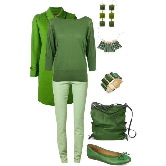 """Green"" by maggie-johnston on Polyvore"