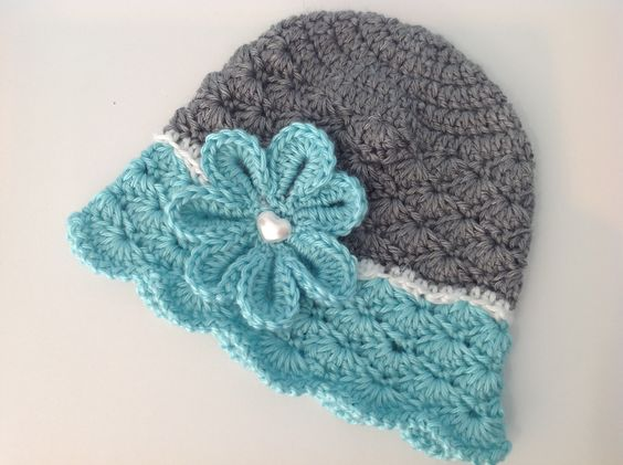 Flowered Shells Hat pattern by Melissa R. M. Frank ...