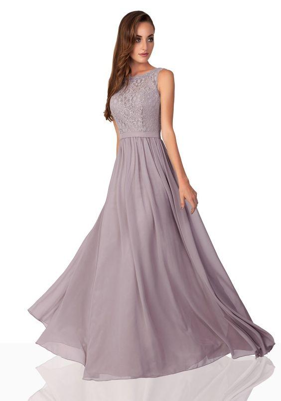 Grey Chiffon long gown party wear