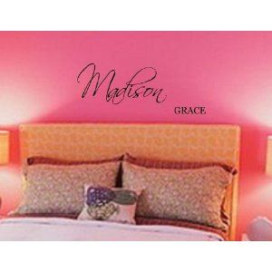 10 inch First & Middle Name wall decal vinyl