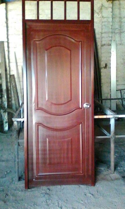 Puerta metalica estilo madera puertas pinterest for Estilos de puertas de madera