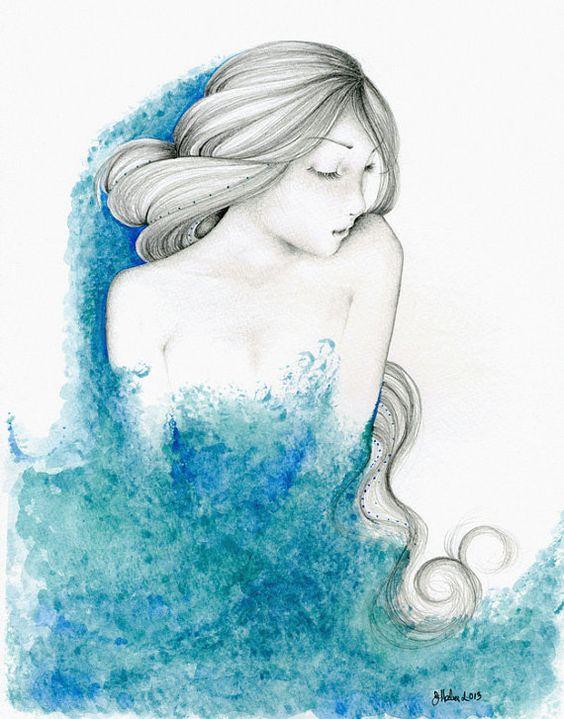 Arte para la decoración de su hogar Teal azul azul pintura