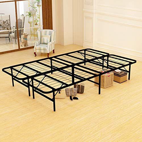 Jurmerry Platform Bed Frame Metal Beds 14 Inch Box Spring