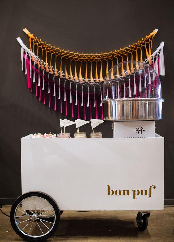 bon pouf cotton candy for your wedding!
