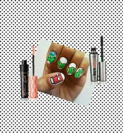 ♥I love these nails! I adore having bright and fun nails in school!
