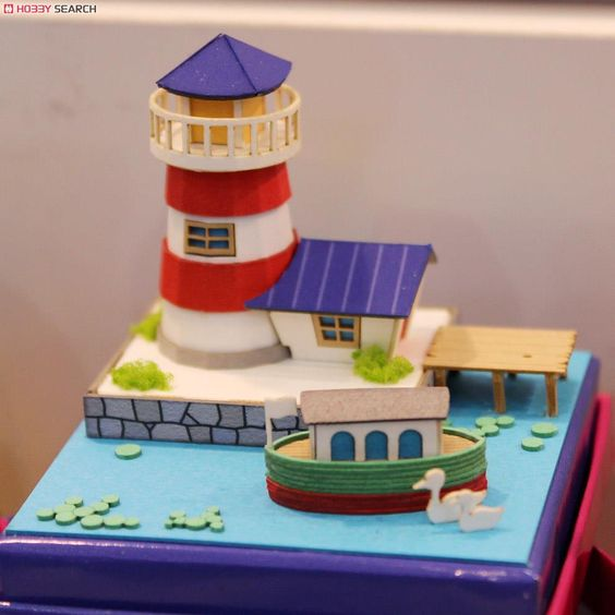 [Miniatuart] Miniatuart Mini : Canal boat and light house (Assemble kit) (Model Train) Other picture2
