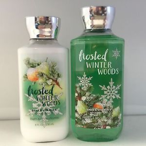 Bath Body Works Frosted Winter Woods 1 Body Lotion 1 Shower Gel Set New | eBay