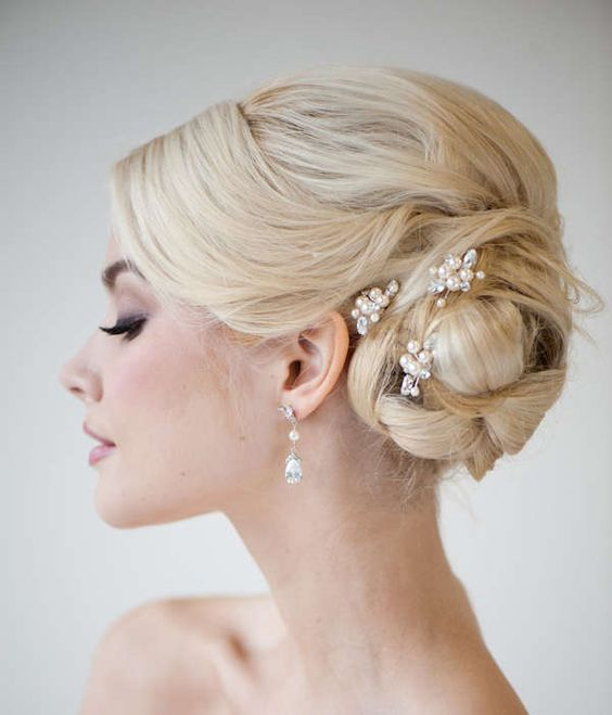 These are pearl hair pins.