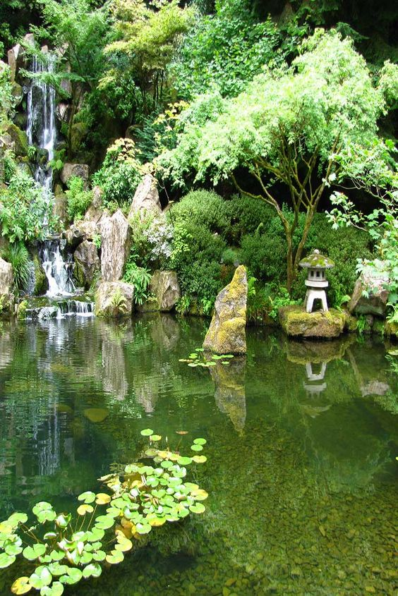 The Japanese Zen Garden At Washington Park In Portland