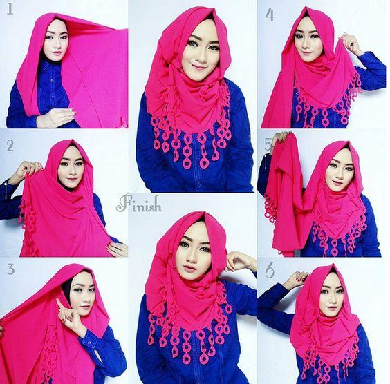 Tutorial Hijab Pashmina Katun Rawis Cara Lif Co Id
