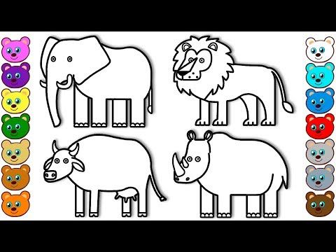 Coloring For Kids With Animals Of India Colouring Book For Children Youtube Animal Coloring Pages Coloring Pages For Teenagers Coloring Pages Inspirational