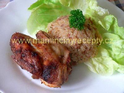 Kuře se salámovou rýží