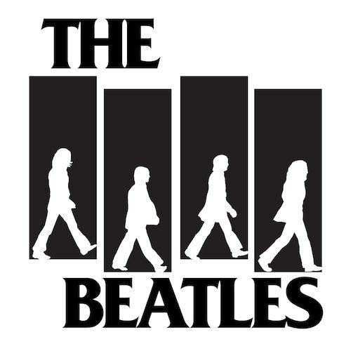 MUSIC ART PRINT The Beatles American Flag