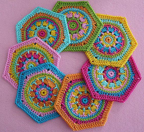 Ravelry: Granny Square Hexagon Crystal - crochet pattern PDF pattern by Paula Matos