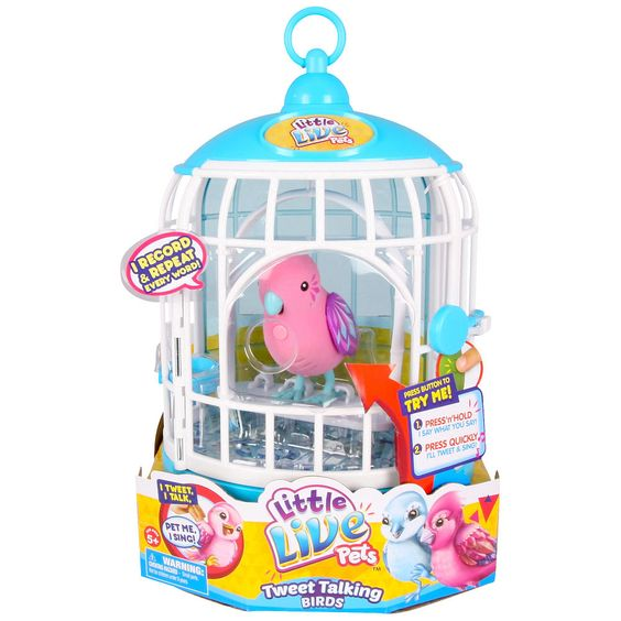 Birds Toys R Us : Little live pets season bird with cage krissy crystal