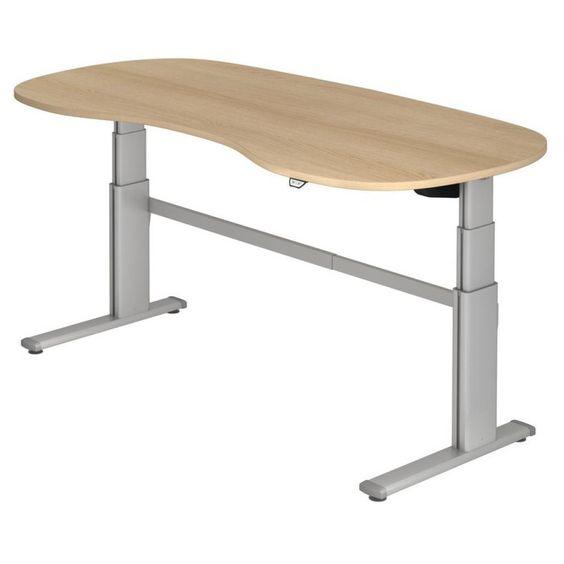 Höhenverstellbarer Schreibtisch XD Nierenform
