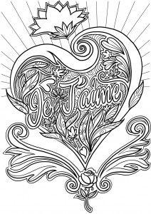 Coloriage Adulte A Imprimer Amour.Coloriage Adulte Amour