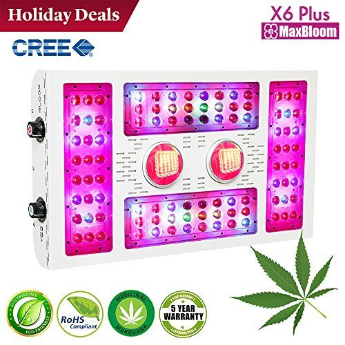 Cheap 600w Cob Led Grow Light Maxbloom X6 Plus 12 Band Full Spectrum Dimmable Led Plant Light With Uv And Ir For Indoor Plants Veg And Flower Cree 600w Led Grow Lights