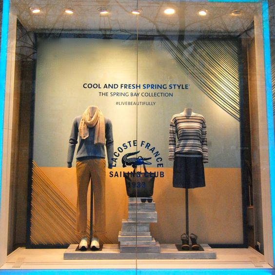 """LACOSTE, Paris, France, """"Cool and Fresh Spring Style"""", pinned by Ton van der Veer"""