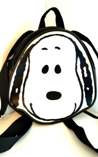 Snoopy-Small-Backpack-In-Black-White-RETIRED-Peanuts-Mischief-makers