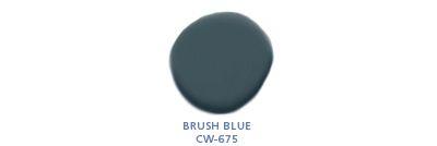 Benjamin Moore color: Brush Blue CW-675