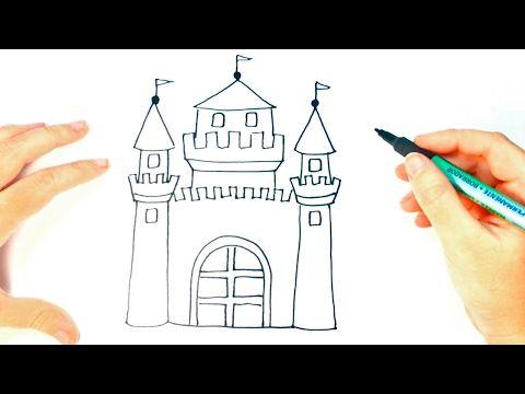 Como Dibujar Un Castillo Paso A Paso Dibujo Facil De Castillo Youtube Castillos Para Dibujar Castillos Dibujos Dibujo De Castillos