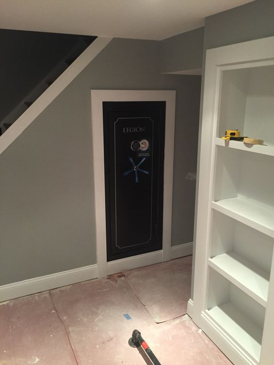 Built in gun safe man cave gun safe pinterest guns for Built in gun safe room
