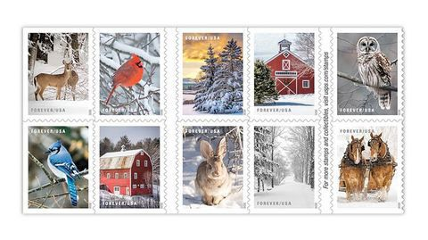 The New Usps Holiday Stamps Are Here In 2020 Holiday Stamping Christmas Crafts Decorations Christmas Stamps