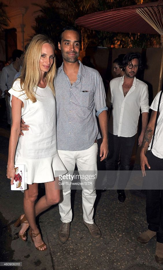 Lauren Santo Domingo and Andres Santo Domingo pose for a photo during the Pre…