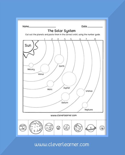 The Planets In The Solar System Solar System Projects For Kids Solar System For Kids Solar System Worksheets Printable solar system worksheets