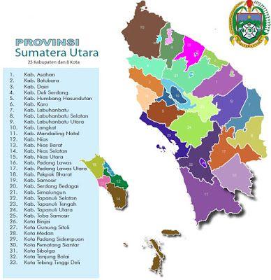 Peta Kabupaten Dan Kota Di Sumatera Utara Peta Gambar Danau Toba