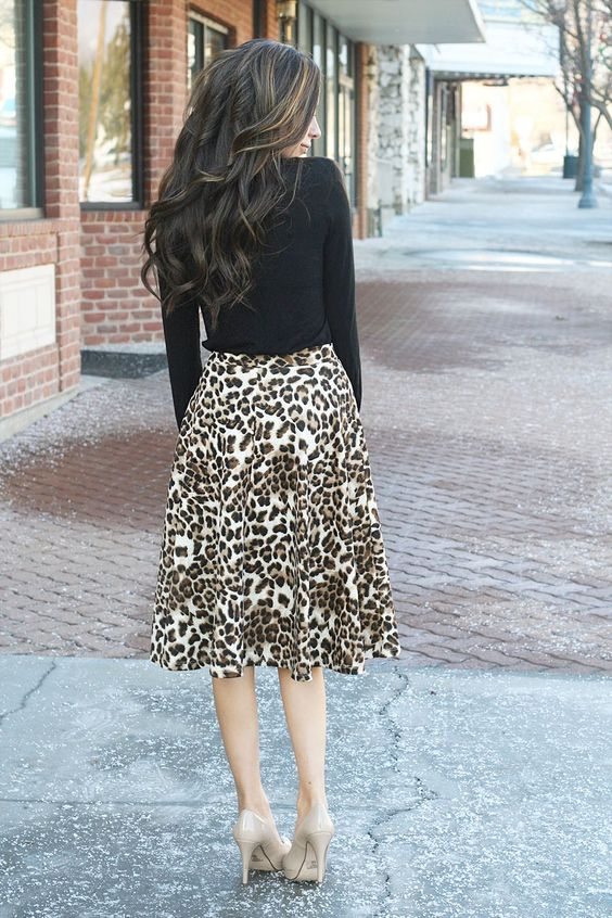 GroopDealz | Animal Print A-Line Skirt! #groopdealz | Clothing ...