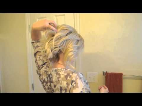 messy up-do, i have medium length hair and this is just beautiful!