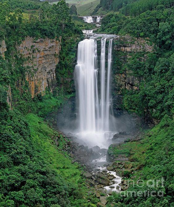 The Karkloof Falls in South Africa's Kwazulu-Natal Province