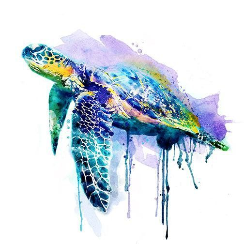 Beautiful Sea Turtle Instant Download Printable Art Watercolor