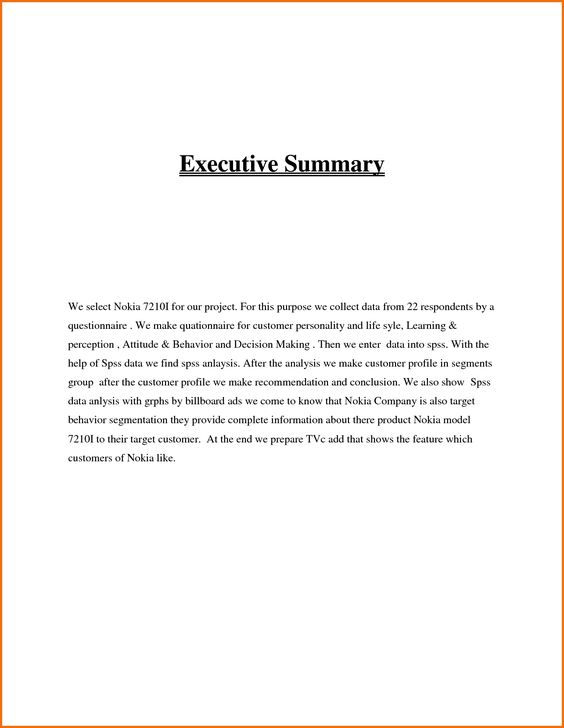 Writing Executive Summary Template mechanical design Pinterest - executive summary template for report