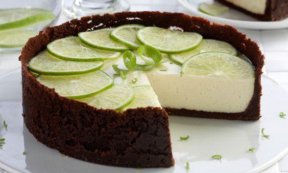 Receita de Torta de limão com chocolate - Torta doce - Dificuldade: Médio - Calorias: 285 por porção: