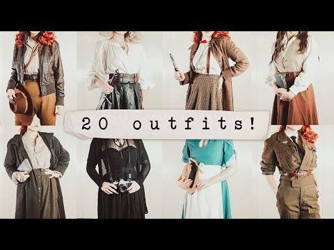 20 Vintage Outfits Based On Fictional Characters Youtube In 2020 Vintage Outfits Steampunk Kids Funky Fashion